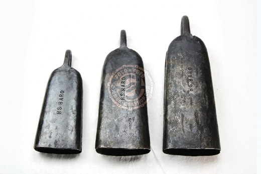 Set (3 Stück) authentischer Glocken aus Baro (Oberguinea)
