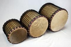 Kurze (Reise)-Basstrommeln / Mini-Dunduns - Guinea