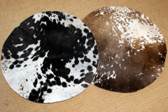 selected round calf skin with hair