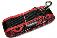 Djembefola djembe strap with hook - black/red
